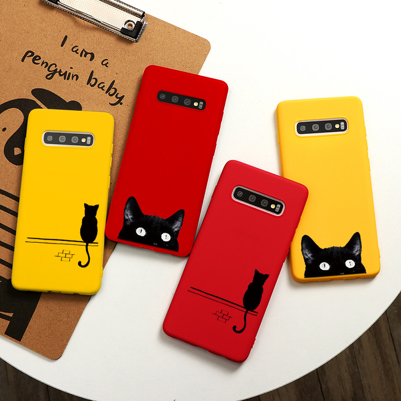 Cute Cats Case For Samsung Galaxy S10 S8 S9 S20 Ultra Plus A10 A20 A30 A40 A50 A70 A11 A21 A31 A41 A91 A51 A71 TPU Coque Cover image