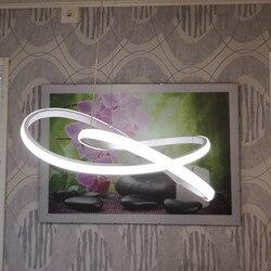 Acryl LED Weiß Anhänger Licht Kreative Stil Bar Anhänger Licht Decor Moderne Hängende Lampe für Wohnzimmer BLP6155