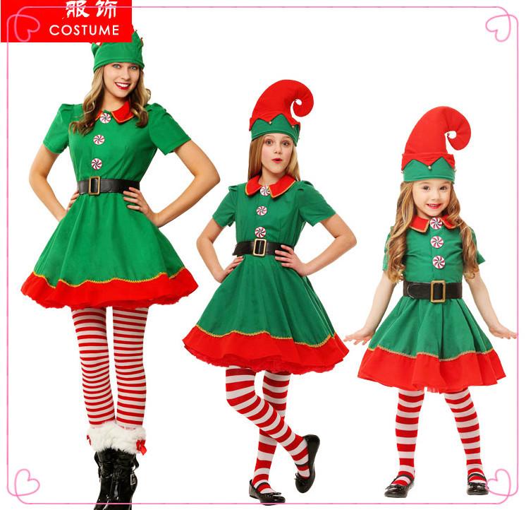 Boys Girls Elf Costume Red Green Fancy Dress Santas Helper Outfit New Age 4 6 8