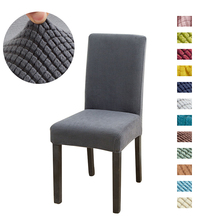 solid Jacquard Chair Covers Spandex For Wedding Dining Room Office Banquet housse de chaise chair cover