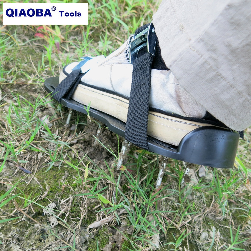 Lawn Aerator Spiked Shoes Metal Fastener Sandals Aerating Spikes For Lawn Spike Shoes