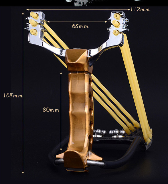 Powerful slingshot with wrist rest outdoor hunting all-metal material sling shot heavy-duty large slingshot for fishing and ball 5