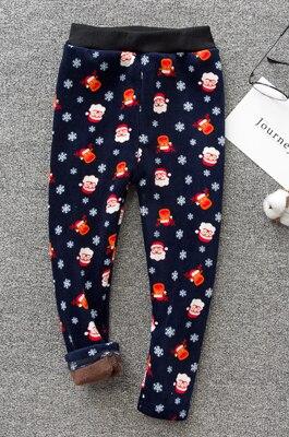VEENIBEAR/осенне-зимние штаны для девочек, бархатные плотные теплые леггинсы для девочек, детские штаны, одежда для девочек на зиму, От 2 до 7 лет - Цвет: shengdanlaoren