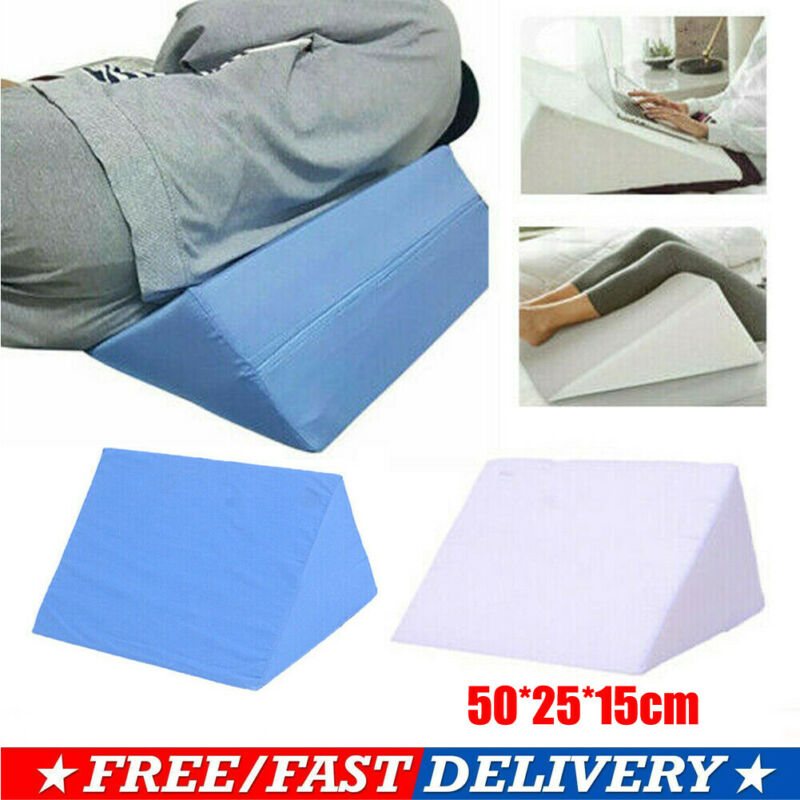 2 Washable Foam Bed Wedge Acid Reflux Pillow Back Leg Elevation Cushion pads