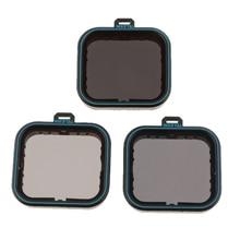 Набор черных фильтров для объектива камеры для GoPro Hero 7 6 5 ND фильтр нейтральной плотности ND4/ND8 / ND16, пылезащитная защита