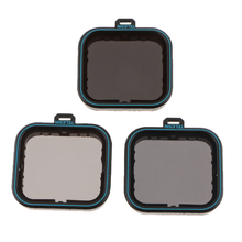 Para GoPro Hero 7 6 5 filtros de objetivo de cámara Negro Set ND filtro de densidad neutra ND4/ND8 / ND16, protección a prueba de polvo