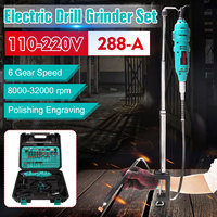 180W Power Tool Mini Electric Grinder Drill 6 Variable Speed Rotary Grinder Machine Set with Carry Case For Milling Polishing Grinders     -