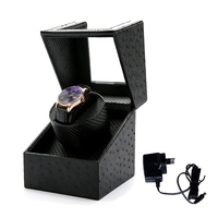 1 Slot Grid Watch Winder Box For Watches Wooden Automatic Mechanical Watches Holder Storage Container Organizer Case Gift
