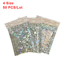 Buy 50 PCS/ Lot Holographic Aluminized Bubble Bag Thicken Bubble Envelope High-end Co-extruded Film Clothing Express Foam Envelopes directly from merchant!