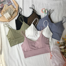 Women Tank Crop Top Seamless Underwear Female Tops Sexy Lingerie Summer Cropped Padded Camisole Femme