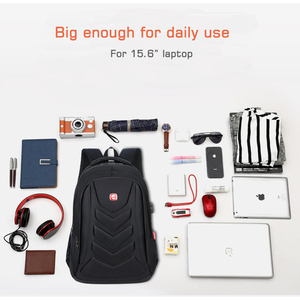 "Image 5 - Crossten Business Travel Laptop Backpack, Large Capacity School Bag, USB Charger Port, 15"" Computer Business bag, Waterproof EVA"