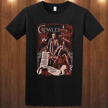 Newest 2019  SUPERNATURAL CROWLEY S M L XL 2XL 3XL T-shirt king of Hell horror tv Winchester Printed T Shirts Mens Streetwear