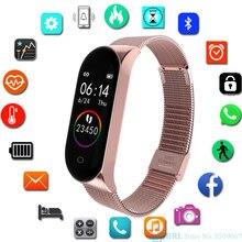 Fashion Stainless Steel Smart Watch Women Men Ladies Wrist Watch