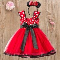Vestido de fiesta para niñas de 1 a 5 años, disfraz de princesa de cumpleaños con lunares