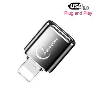 Image 1 - Đầu Đọc Thẻ OTG Đến Camera Adapter 3.0 Dùng Cho Cáp Lightning USB Chuyển Đổi Piano Điện Midi Bàn Phím Cho Iphone 7 8 IOS 13 iPad