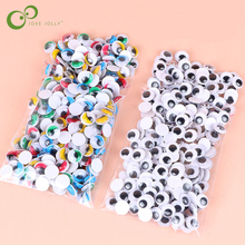 100pcs/200pcs Self-adhesive Googly Wiggle Eyes for DIY Scrapbooking Crafts Projects DIY Dolls Accessories Eyes Handmade Toys GYH