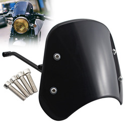 Motorcycle Black Front Windshield Windscreen Wind Deflector Protector For Benelli Leoncino 250 500 Trail Accessories