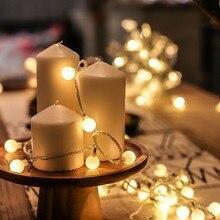 Светодиодный светильник-гирлянда в виде шаров, светильник для рождественских праздников, светильник-фея, уличный светильник, вечерние, свадебные, рождественские украшения, ночник