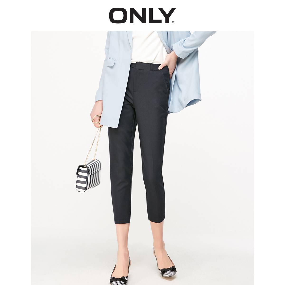 ONLY Women's Slim Straight Fit Crop Pants   119150507