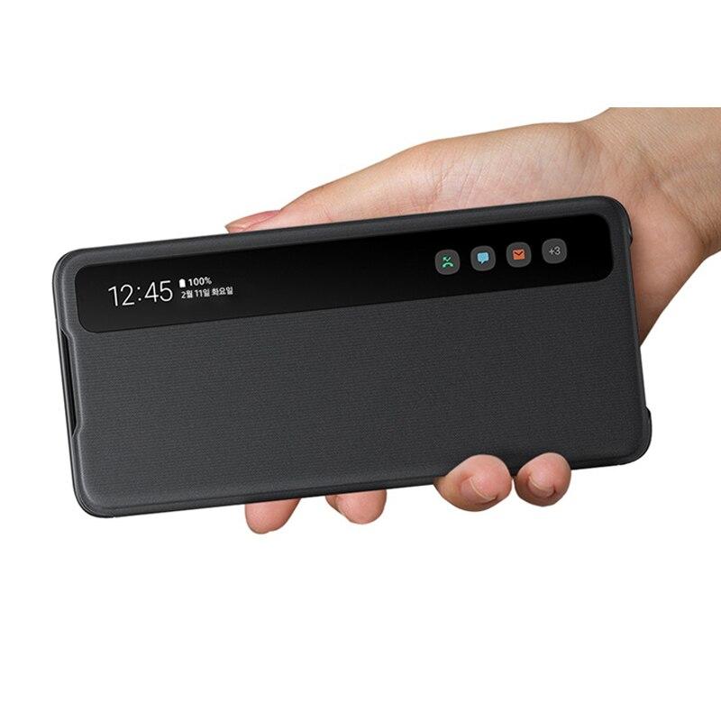 Умная пленка для экрана с четким изображением для Samsung Galaxy Note 10 20 Ультра 5G флип-кейс интеллигентая (ый) откидная крышка для Samsung S20 Plus Ultra Coque ...