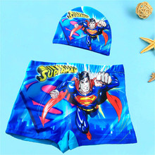 2Pcs Boys Swimwear Pants + Cap ages 0 to 9 Kids Swimming Costume Boy Bathing Suits Shorts Cartoon Toddler Swim Trunks