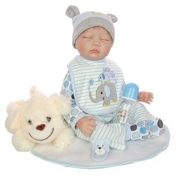 Children doll toys gift 22inch soft silicone reborn baby doll alive bebe reborn menino bonecas