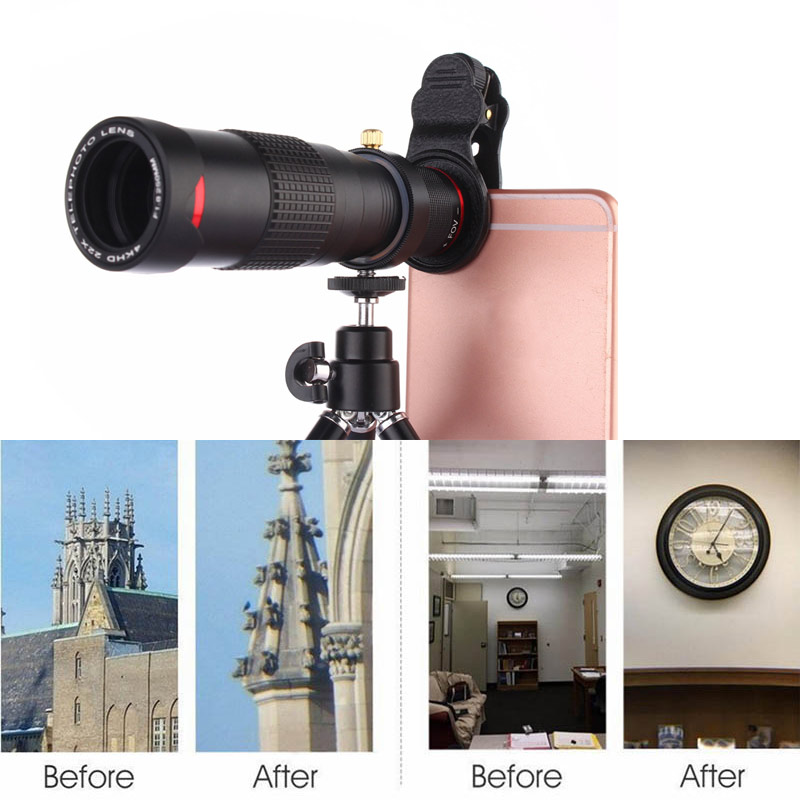 2019 Wholesale 22X Telephoto Lens Mobile Phone Camera Lens with Tripod for Smartphone Tablets H-best image