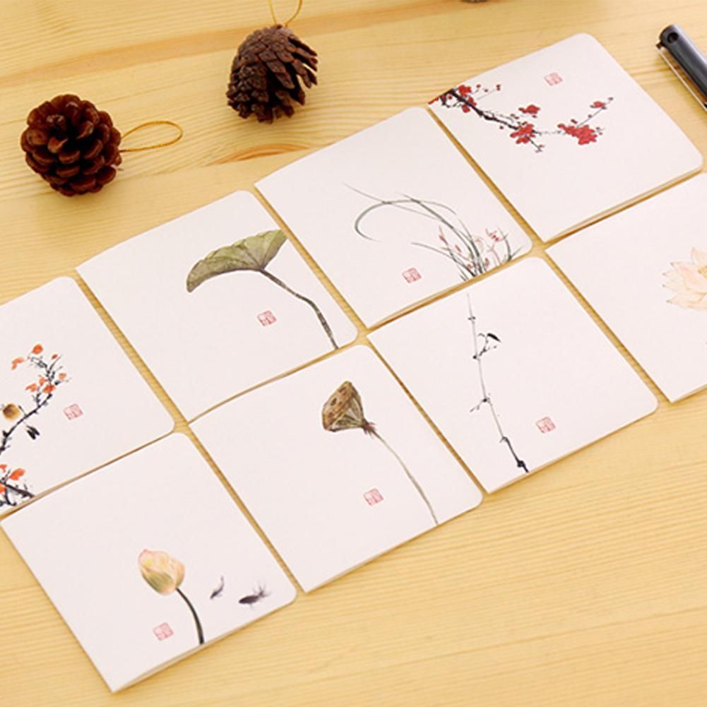8 Style Blessing Card Chinese Classical Greeting Card Ink Paintings Wedding Invitations Greeting Cards With Envelope Message Car