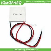 Resfriador termoelétrico tec1 12708 TEC1-12708, dissipador de calor, placa eletrônica diy, módulo de placa peltier, 1 peça