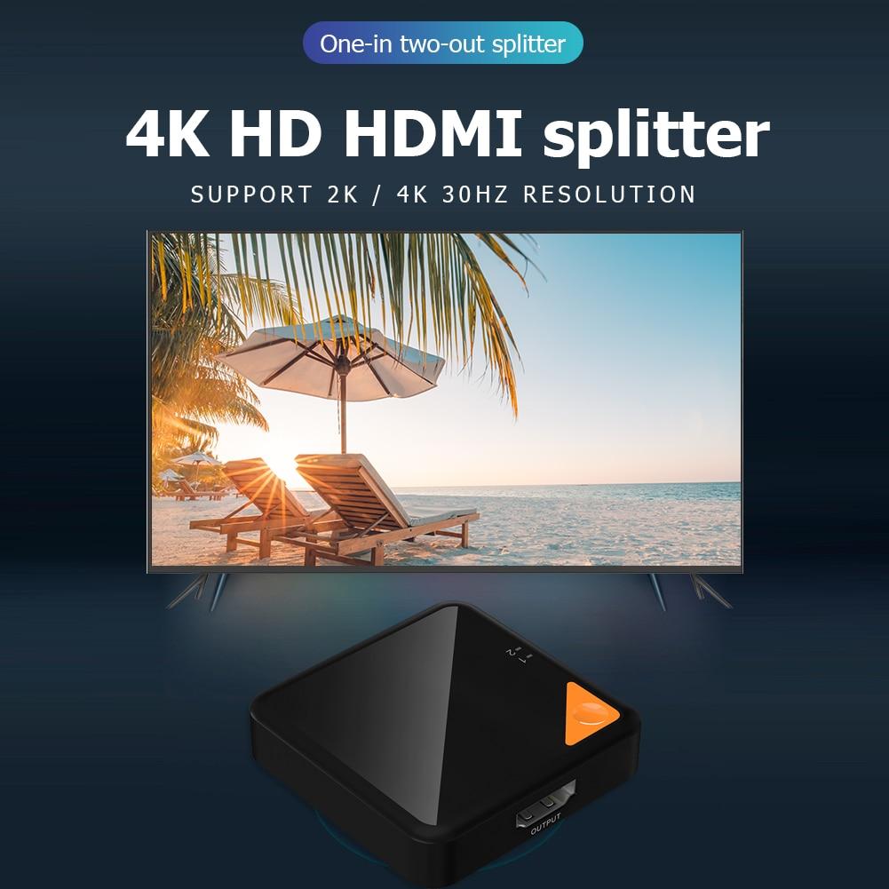 Bi-Direction 1x2/2x1 Adapter School Office Working Decoration 4K X 2K HDMI Switch Splitter Video Display Switcher