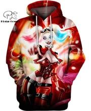 PLstar Cosmos DC Harley Quinn anime Super Attack Speed 3d hoodies/shirt/Sweatshirt Winter autumn funny Harajuku streetwear-2