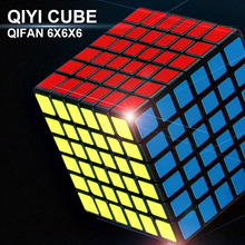 New QiYi Qifan 6x6x6 Magic Speed Cube Stickerless Professional Puzzle Cubo Magico 6x6 Educational Toys For Children Gift qiyi