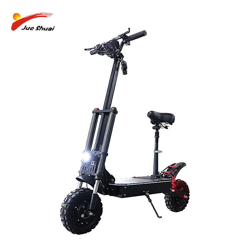 60V Electric Scooter 2600/3200W Foldable Scooter with 26-35A Lithium Battery 11 inch Off Road Tires Trotinette Electrique Adulte