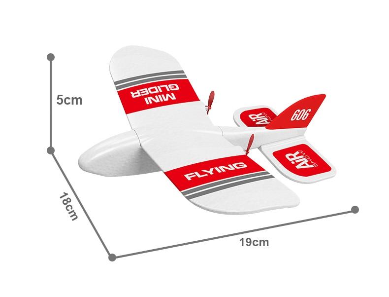Mini avion RC à l'intérieur, jouets pour enfants, Mini avion RC, planeur en mousse EPP, 2019G, 2CH, modèle gyroscopique intégré KF606, 2.4 2