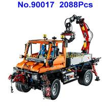 2088pcs technic truck unimog u400 power rc remote control electric building blocks 8110 Toy(China)
