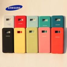 samsung Galaxy S8/S8 Plus жидкий силиконовый чехол шелковистый мягкий на ощупь защитный чехол для samsung s8