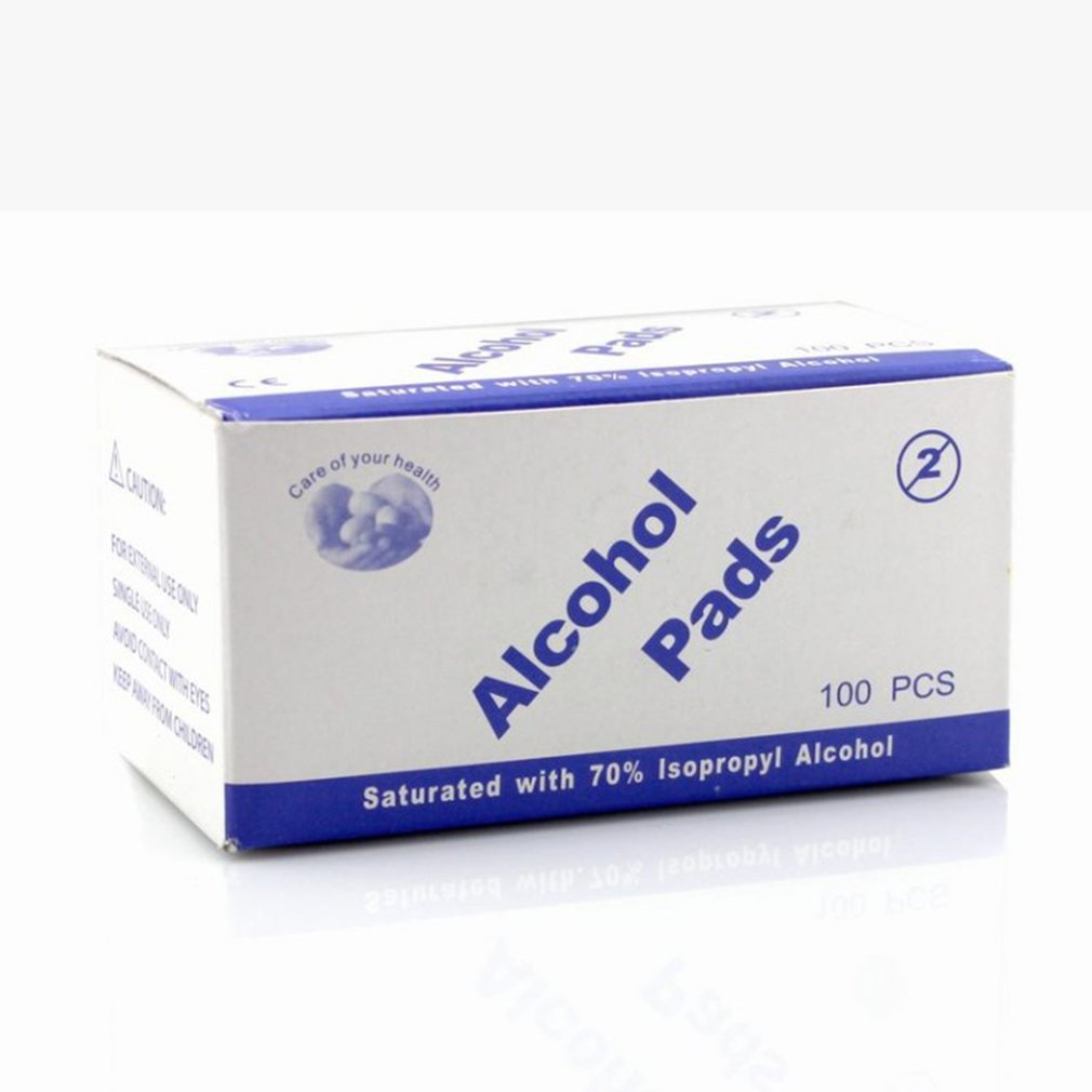 100Pcs/Box Portable Universal Alcohol Pads For Disinfection Use Hospital Household Travel Outdoor First Aid Accessory