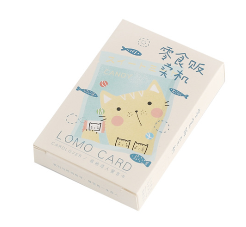 L62- Happy Food Paper Greeting Card Lomo Card(1pack=28pieces)