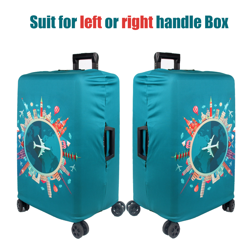 Thicker Travel Luggage Protective Cover Suitcase Case Cover Travel Accessories Elastic Luggage Cover Apply to 18-32inch Suitcase