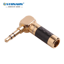 1pcs Angle 3.5mm 3 pole stereo jack Carbon Fiber Earphone Jack 3.5 Male Plug Gold Plated Wire Solder DIY Connector for 6mm cable 50pcs gold plated 3 5mm jack stereo audio mini jack plug right angle or straight connector carbon fiber diameter 6mm