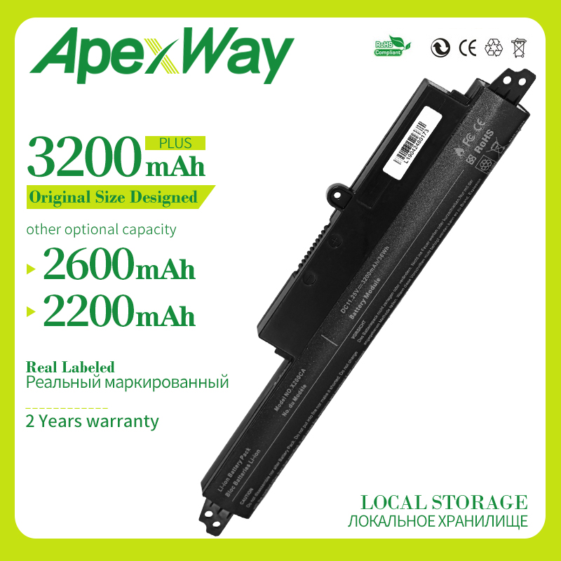 Apexway 3CELLS 11.25v For ASUS X200m Battery A31N1302 For ASUS VIVOBOOK <font><b>X200CA</b></font> F200CA A31LM9H AR5B125 image