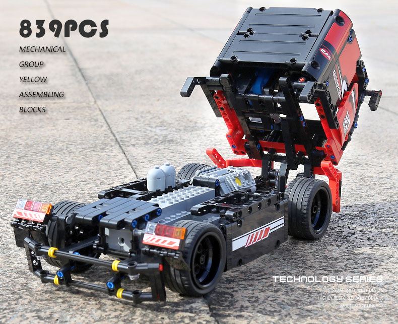 MOULD KING 15002 Compatible 42041 Technic The Red Racing RC Building Block (570PCS) 12