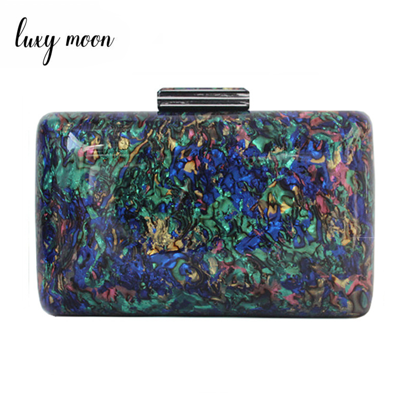Luxy Moon Acrylic Handbag Women Evening Clutch Bags Party Wedding Purse Bags for Women Luxury Design Vintage Wallet ZD1514