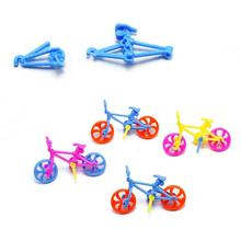 2PC DIY bicycle Toys plastics handmade BMX Functional Kids Bicycle Bike Creative Mini Toys educational Bike Game Toys Gift tanie tanio Z tworzywa sztucznego 5-7 lat Inne DO NOT EAT! Jazda na rowerze about 4g as is shown in the picture
