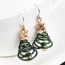 Fashion Women oorbellen Star Christmas Tree Earrings Dangle Drop Green Ornaments Jewelry Accessories pendientes mujer moda 2019