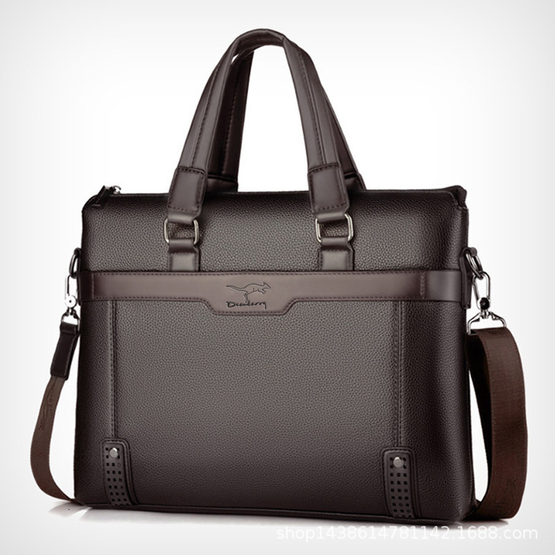 2020 Brand Business Men's Briefcase High Quality Totes Leather Men Laptop Handbags Messenger Bags For Male