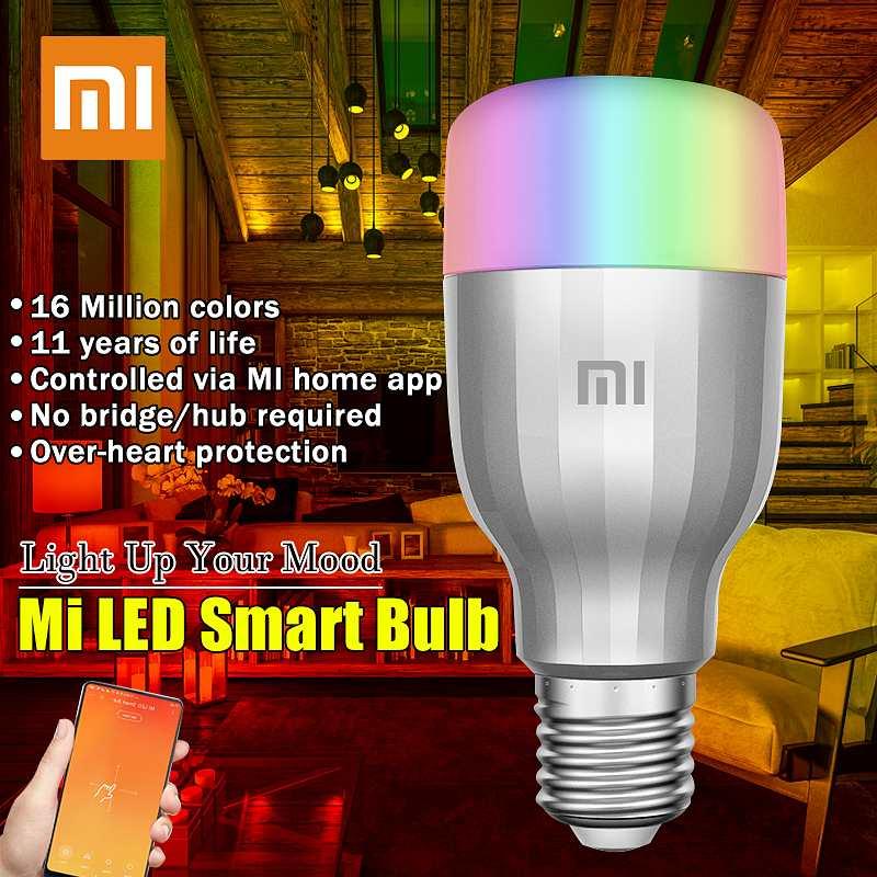 Xiaomi Yee светильник, цветная лампа E27, умное приложение, wifi, пульт дистанционного управления, умный светодиодный светильник, RGB, красочный Романтический светодиодный светильник, светодиодный светильник