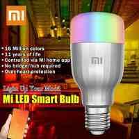 Xiaomi Yeelight цветная лампа E27 Smart APP wifi Пульт дистанционного управления умный светодиодный свет RGB красочный Романтический светодиодный светиль...