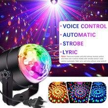 1 pçs disco lâmpada led efeito de palco luz girando cor cheia dj dança festa sala discoteca lâmpada luzes de iluminação de palco quente!!!