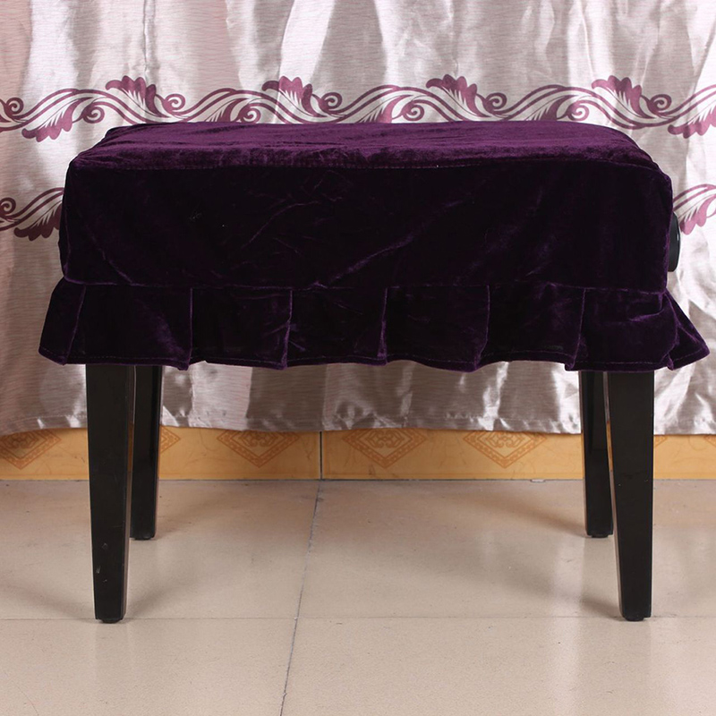 Piano Chair Cover Piano Stool Cover Bench Dust Cover Decoration Cloth Musical Instruments Accessory For Piano Single Seat